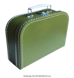 Koffertje 25 cm Olijfgroen