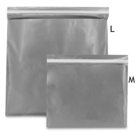 Plastic verzendzak zilver (M) doos 250 st