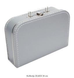Koffertje 30 cm Zilver