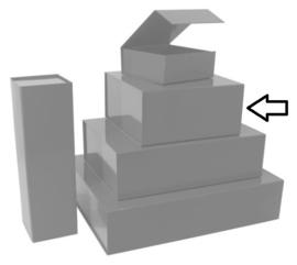Luxe magneetdoos Zilver glans (Square) Doos 10 stuks