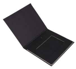 Giftcard mapje zwart (doos 100 stuks)