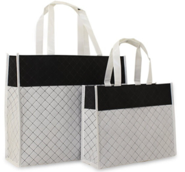 Luxe shopper wit diamond (klein) doos 50 stuks