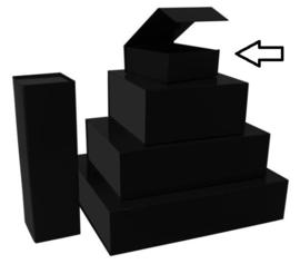 Luxe magneetdoos  matt-Zwart (Small) Doos 10 stuks