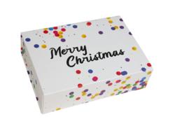 "Luxe magneetdoos Confetti ""Merry Christmas"""