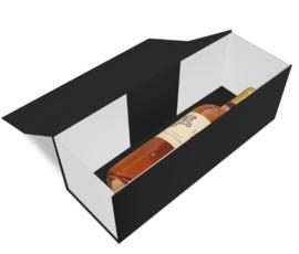 Luxe magneetdoos Zwart/Wit glans (Wine) Doos 10 stuks