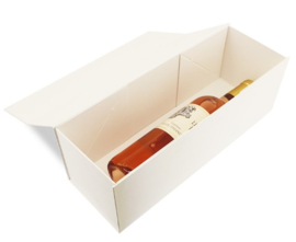 Luxe magneetdoos Wit kraft (Wine) Doos 10 stuks