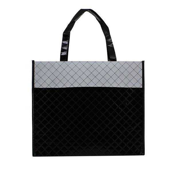 Luxe shopper zwart diamond (groot) doos 50 stuks
