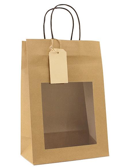 Papieren cadeautas bruin (S)