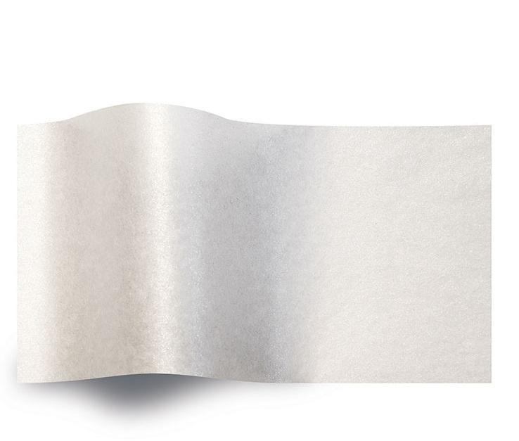 VLOEIPAPIER - PEARL WHITE 50 x 75 cm (240 st)