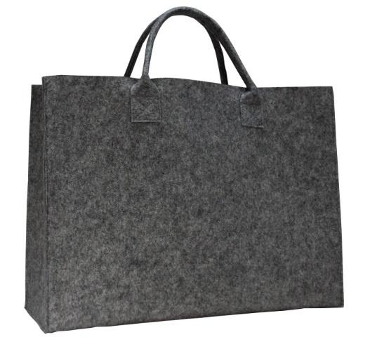 Luxe shopper d.grijs doos 50 stuks