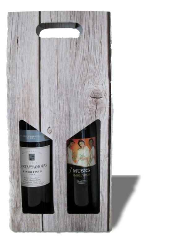 Wijndoos steigerhout(2 fles) bundel 20 stuks
