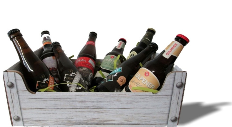 Bierkist karton steigerhout (klein) doos 10 st