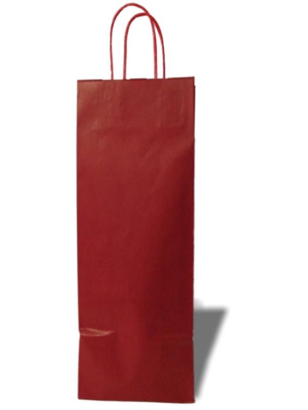 Basic wijntas Rood kraft (1 fles) Doos 100 stuks