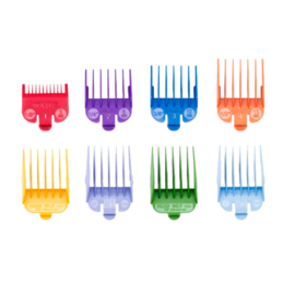 Wahl - Set Gekleurde plastic opzetkammen (8 stuks - 3 t/m 25 mm)