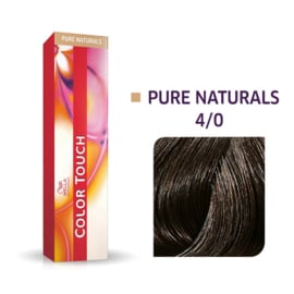 Wella Color Touch - Pure Naturals -  4/0  - 60 ml