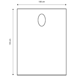 Wegwerp Verflakens - 100x140 cm - 50 stuks poncho style