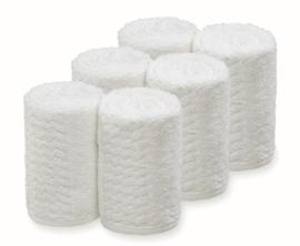 Handdoek Barburys Take Care, 20 x 70 cm - Wit - 6 stuks