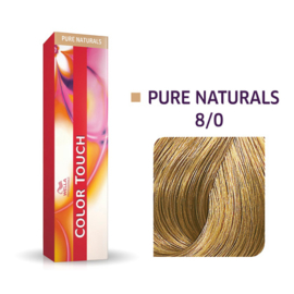 Wella Color Touch - Pure Naturals -  8/0  - 60 ml