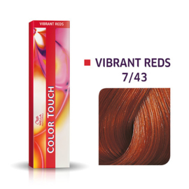 Wella Color Touch - Vibrant Reds -  7/43 - 60 ml