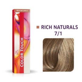 Wella Color Touch - Rich Naturals -  7/1  - 60 ml