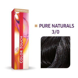 Wella Color Touch - Pure Naturals -  3/0  - 60 ml