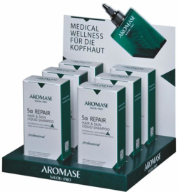 Aromase Salon-Pro 5α Repair Shampoo voor haar en huid - Display met 6 x 80 ml