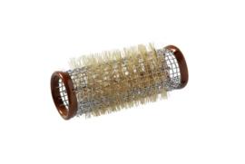 Metalen rollers 65 mm lang - 24 mm - Bruin - 12 stuks