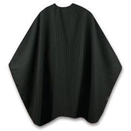 Trend-Design Mens Cape Knipmantel met drukknopen - Zwart