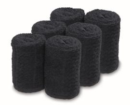 Handdoek Barburys Take Care, 20 x 70 cm - Zwart - 6 stuks