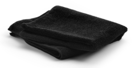 Handdoek micro fiber kleur- en bleekbestendig, 50 x 90 cm - Zwart - 10 stuks