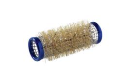 Metalen rollers 65 mm lang - 21 mm - Blauw - 12 stuks