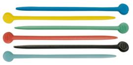 Plastic spelden voor rollers - Gekleurd - 200 stuks