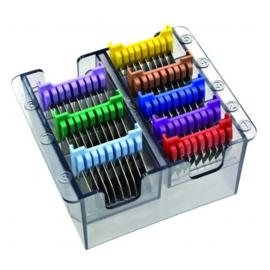 Moser / Wahl - Set Opzetkammen met metalen tanden (8 stuks) - 1233-7050