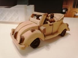 Kever cabrio houtsnijwerk