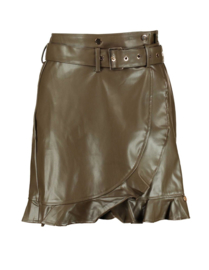 Harper & Yve Skirt Kaya Leather Green