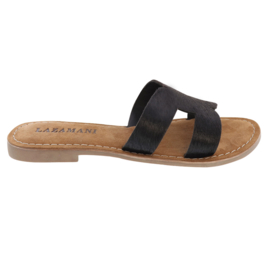 Lazamani Black Slipper