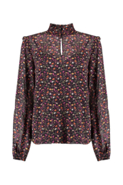 Harper & Yve Blouse Oliva Black Flower