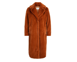 Vila koda faux fur coat toffee