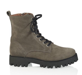 DWRS Stanley Bikerboots Suede Taupe