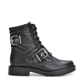 PS Poelman veterboots Black/zilver