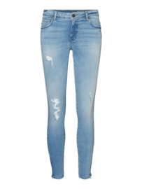 Noisy May Kimmy Zip Jeans Light Wash