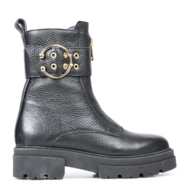 PS Poelman Dollaro Boots Black Gold