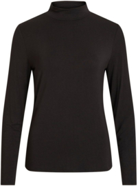 Vila Bulis Zebra Funnel Neck Top Black