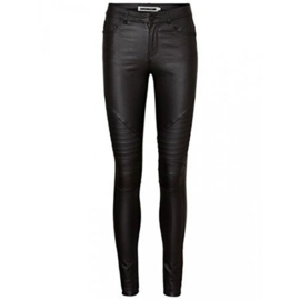Noisy May Ex Lucy Coated Biker Jeans Black