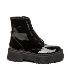 Steve Madden Odyl Boots Black Patent