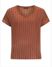 Ydence Top Imme rust Stripe