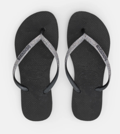 Havaianas Slim glitter Black/dark grey