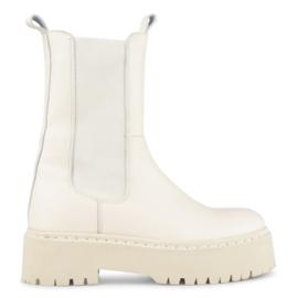 PS Poelman Chelsea Boots Glaciar Off White