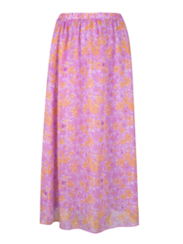 Ydence Skirt Heather Purple Flower print