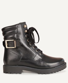 PS Poelman veterboots black/gold